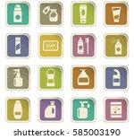 household chemicals vector...   Shutterstock .eps vector #585003190
