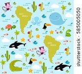 vector background south america ... | Shutterstock .eps vector #585005050