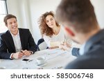 business people during... | Shutterstock . vector #585006748
