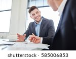 business people working and... | Shutterstock . vector #585006853