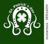 irish holiday traditional logo... | Shutterstock .eps vector #585016054
