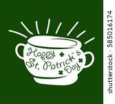 irish holiday traditional logo... | Shutterstock .eps vector #585016174