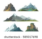 mountain mature silhouette... | Shutterstock .eps vector #585017698