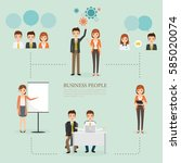 people character of business... | Shutterstock .eps vector #585020074