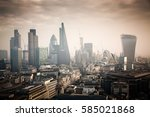 rooftop view over london on a... | Shutterstock . vector #585021868