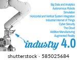 industry 4.0 the future... | Shutterstock . vector #585025684