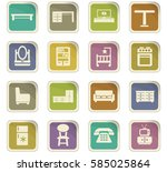 furniture vector icons for user ... | Shutterstock .eps vector #585025864