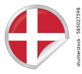 vector silver sticker with map... | Shutterstock .eps vector #585027598