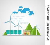 renewable energy power plant... | Shutterstock .eps vector #585033913