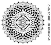 ethnic mandala from simple... | Shutterstock .eps vector #585037540