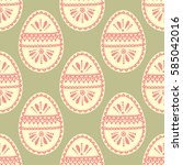 seamless pattern with easter... | Shutterstock .eps vector #585042016