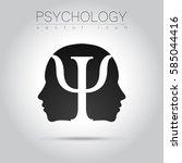 modern head sign logo   of... | Shutterstock .eps vector #585044416