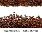 coffee beans. isolated on a... | Shutterstock . vector #585045490