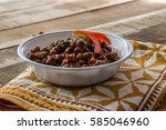 kala chana   healthy black... | Shutterstock . vector #585046960