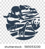 icon in the form of animal... | Shutterstock .eps vector #585053230