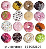 Set Of Donuts With Filling...
