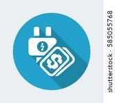 vector illustration of single... | Shutterstock .eps vector #585055768