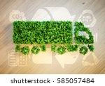 ecology logistics concept. 3d...   Shutterstock . vector #585057484