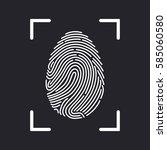 fingerprint scan icon   Shutterstock .eps vector #585060580