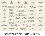 vintage decor elements and... | Shutterstock . vector #585060709