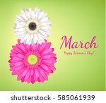 8 march women's day background... | Shutterstock .eps vector #585061939