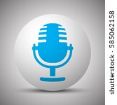 blue microphone icon on white... | Shutterstock .eps vector #585062158