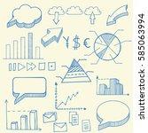 hand drawn finance vector... | Shutterstock .eps vector #585063994