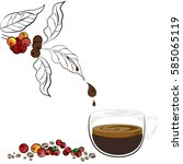coffee beans | Shutterstock .eps vector #585065119