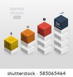 3d vector infographics column... | Shutterstock .eps vector #585065464