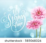 gerbera flower background and... | Shutterstock .eps vector #585068326