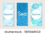 sketch marine nature vertical... | Shutterstock .eps vector #585068410
