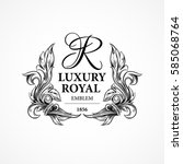 luxury decorative ornament... | Shutterstock .eps vector #585068764