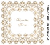 decorative square frame with... | Shutterstock .eps vector #585069883