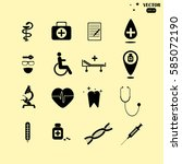 medical icons | Shutterstock .eps vector #585072190