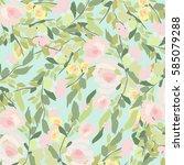 flowers background | Shutterstock .eps vector #585079288