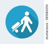 vector illustration of traveler ... | Shutterstock .eps vector #585082054
