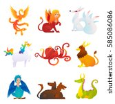 mythical and fantastic... | Shutterstock .eps vector #585086086