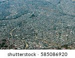 mexico city aerial view... | Shutterstock . vector #585086920