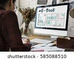 e book layout design draft...   Shutterstock . vector #585088510