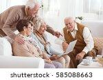 Group Of Elderly People Using...