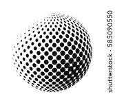vector halftone geometric...   Shutterstock .eps vector #585090550