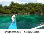 el nido  philippines   june 28  ... | Shutterstock . vector #585090886