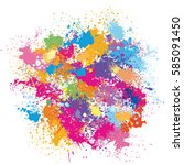color background of paint... | Shutterstock .eps vector #585091450