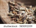 Close Up Of Dried Anise Seed ...