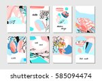 hand drawn vector abstract... | Shutterstock .eps vector #585094474