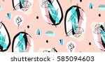 hand made abstract textured... | Shutterstock . vector #585094603