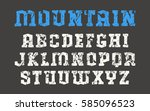 serif font in the style of... | Shutterstock .eps vector #585096523