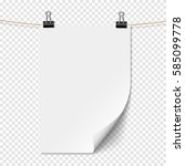 white empty sheet paper with... | Shutterstock .eps vector #585099778