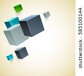 vector abstract geometric shape ... | Shutterstock .eps vector #585100144