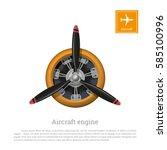 aircraft engine in realistic... | Shutterstock .eps vector #585100996